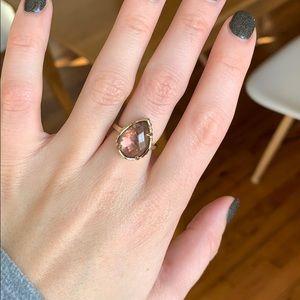 Kendra Scott pear shaped ring